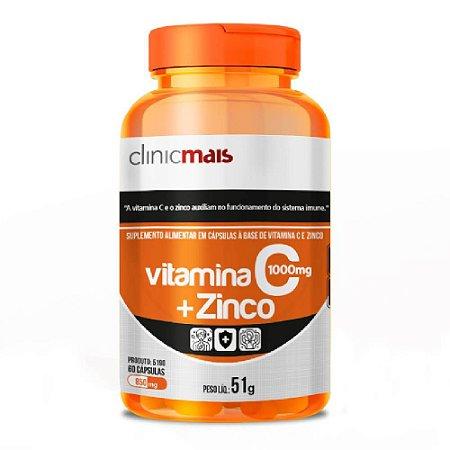 Vitamina C + Zinco 60 cápsulas - Clinicmais