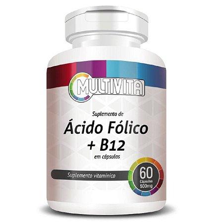 Ácido Fólico + Vitamina B12 60 cápsulas - Multivita