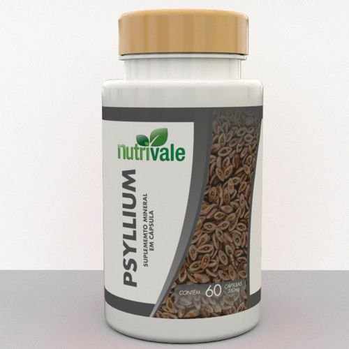 Psyllium em Cápsulas  (60caps) - Verde Nattus