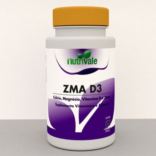ZMA Com Vitamina D3 60 cápsulas - Nutrivale