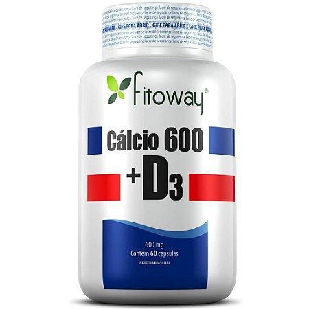 Calcio 600 + D3 60 cápsulas - Fitoway