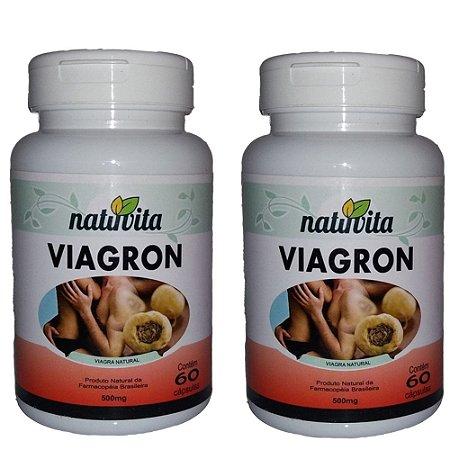 Kit com 2 Viagron Estimulante Sexual Natural - Total 120 cápsulas
