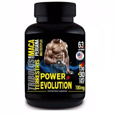 Tribulus Terrestris Com Maca Peruana 63% - 160 cápsulas - Power Evolution