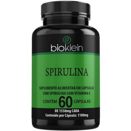 Spirulina 60 cápsulas - Bioklein