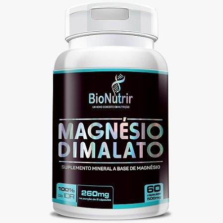 Magnésio Dimalato 60 cápsulas - Bionutrir