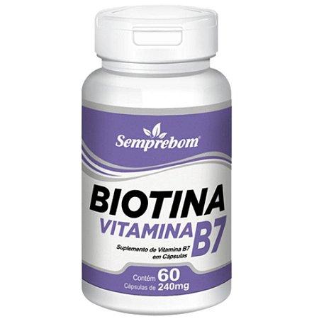 Vitamina B7 (Biotina) 60 cápsulas - Semprebom