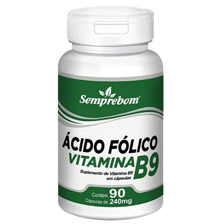 Vitamina B9 (Ácido Fólico) 90 cápsulas - Semprebom