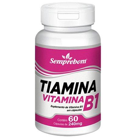 Vitamina B1 (Tiamina) 60 cápsulas - Semprebom