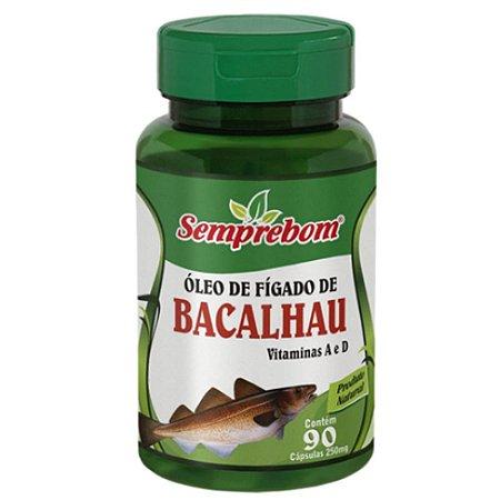 Óleo de Fígado de Bacalhau 90 cápsulas - Semprebom