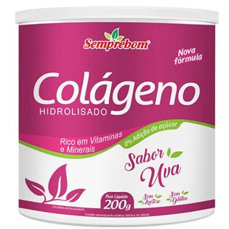 Colágeno Hidrolisado Com Vitaminas 200 gramas - Semprebom - UVA