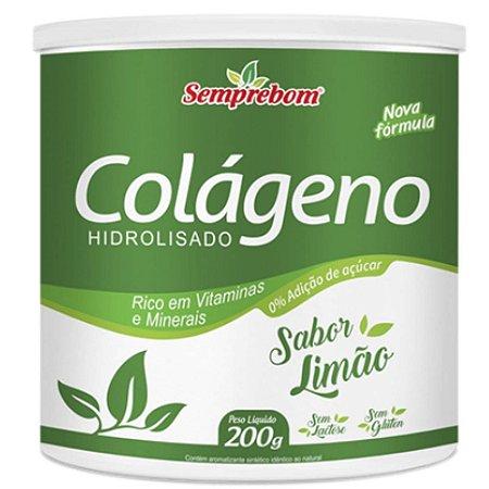 Colágeno Hidrolisado Com Vitaminas 200 gramas - Semprebom - LIMÃO