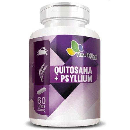 Quitosana Com Psyllium 90 cápsulas - Flora Nativa