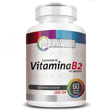 Vitamina B2  60 cápsulas - Multivita