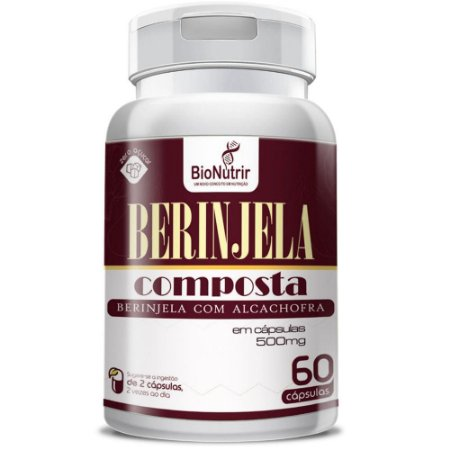 Berinjela Composta 500mg 60 cápsulas - Bionutrir