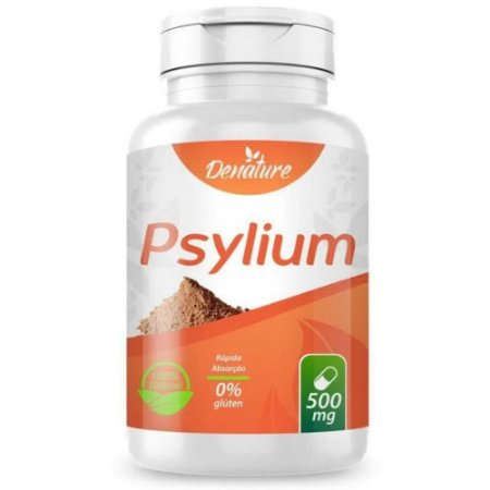 Psyllium 500mg 100 cápsulas - Denature