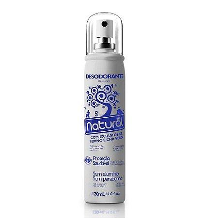 Desodorante Com Extratos de Pepino e Chá Verde 120ml - Orgânico Natural