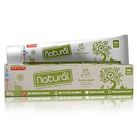 Creme Dental Natural Com Uva, Melissa e Camomila 80g - Orgânico Natural