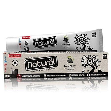Gel Dental Natural com Carvão Vegetal Ativado 80g - Orgânico Natural