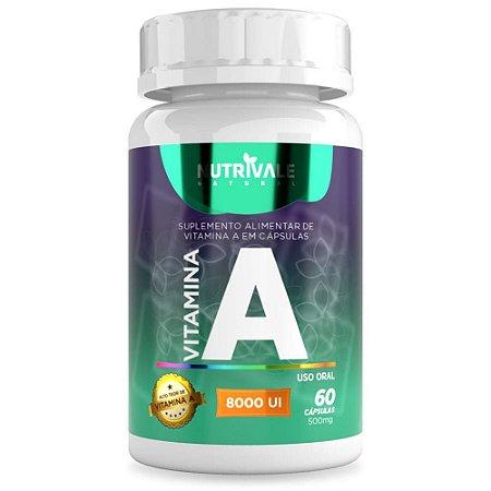 Vitamina A (Retinol)  8000 UI 60 cápsulas - Nutrivale