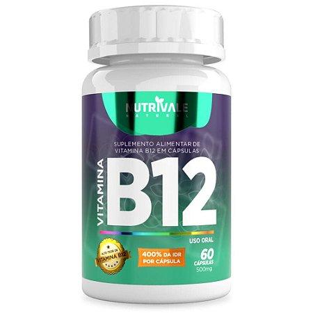 Vitamina B12 (Cianocobalamina) 400% 60 cápsulas - Nutrivale