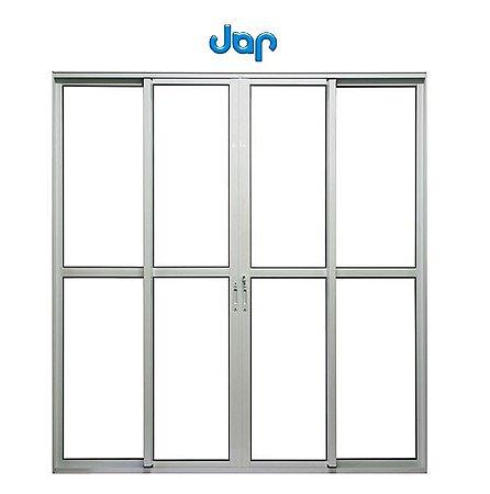 Porta Balcão 4 folhas com fechadura (Jap)