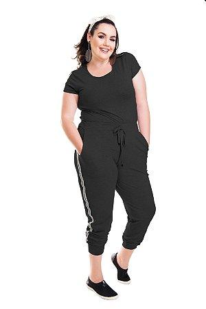 1a9a481a8c3a Modaliss - Roupa Feminina Plus Size |Conjunto Calça Jogger Listrada ...