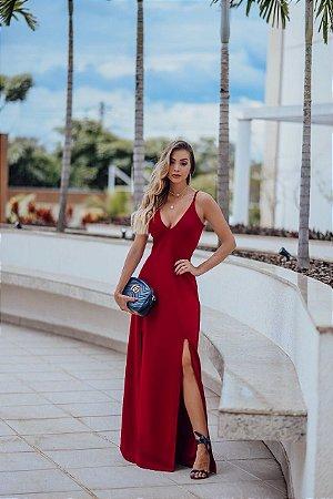a6aed2222a6 vestido longo de festa vermelho - Garota de Luxo Boutique