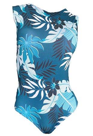 Maio Garota de Luxo Beachwear Com Tradicional South BeachMulticolorido