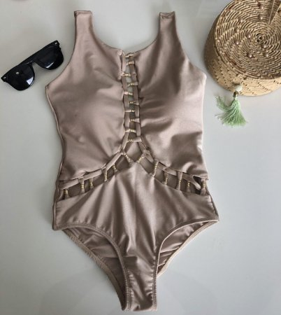 Maio Body Coleçao Luxo Nude Acetinado 2020