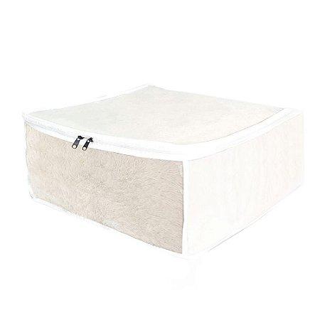 Organizador de Gavetas Guarda Roupa Edredons Multiuso Branco 45x45x20