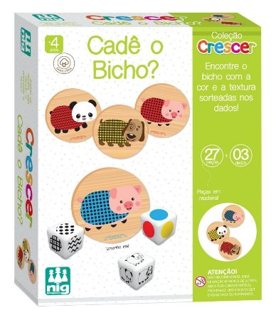 Jogo Cadê O Bicho Em Madeira Coleção Crescer 0454 Nig Brinquedos