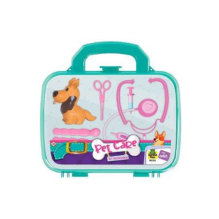 Brinquedo Infantil Kit Maletinha Veterinária 0801 Samba Toys
