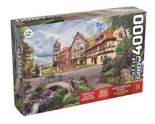 Super Quebra Cabeça Puzzle 4000 Pçs Vila Europeia 03919 Grow