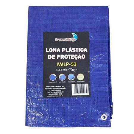 Lona Azul Reforçada 5x3 metros 70 Grs IWLP53 WAY