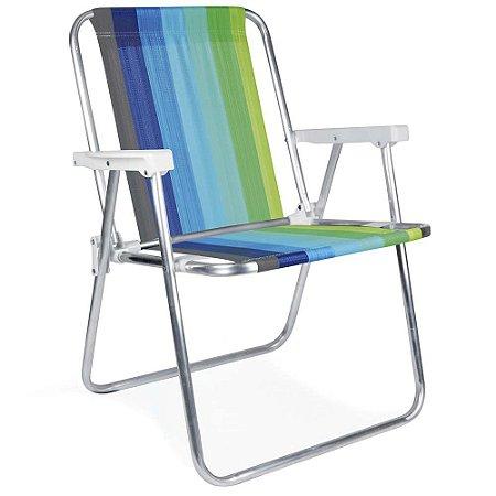 Cadeira Alumínio Praia Camping Várias Cores 2101/2226 MOR