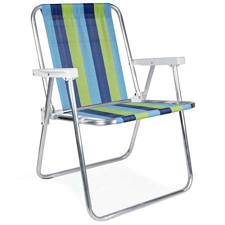 Cadeira Aluminio Verde + Azul 2101/2220 MOR