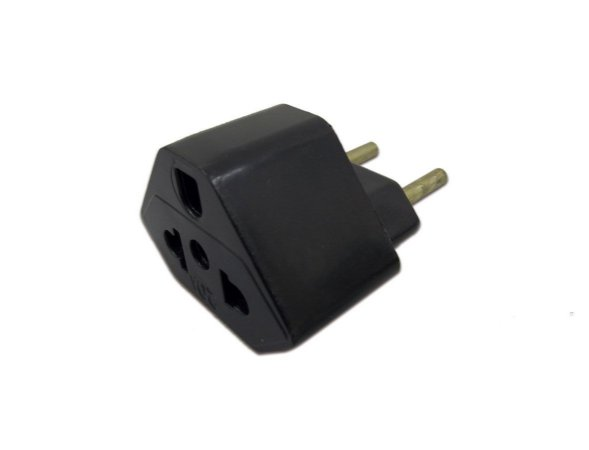 Plug Adaptador de Tomada Preto 20A Universal
