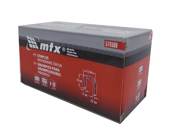 Grampos Para Grampeador Pneumático 5000 pçs 10mm 576569 MTX
