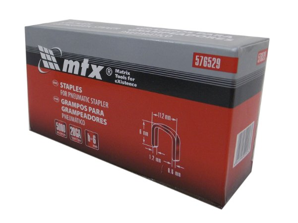 Grampos Para Grampeador Pneumático 5000 pçs 6mm 576529 MTX