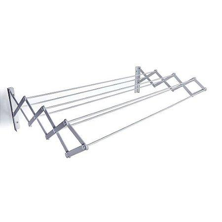 Varal Sanfonado Retrátil 80 cm em Aço - MOR