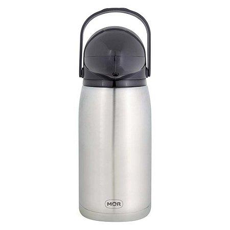 Garrafa Térmica de Pressão Nobile Inox 1 Litro Mor