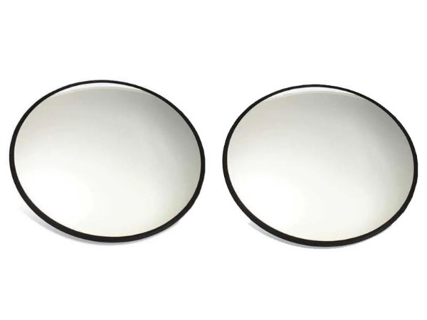 "Espelho Auxiliar Convexo 3"" Externo 75mm 2 Pçs Est. Paulista"