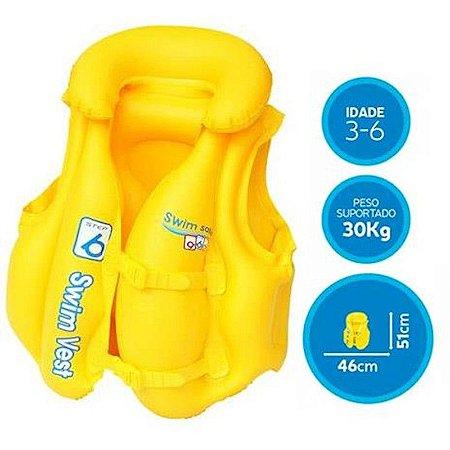 Colete Inflável Infantil Premium 1814 Mor