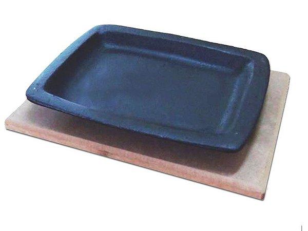 Chapa Tepan De Ferro Fundido 17x21cm C/ Aparador Rig