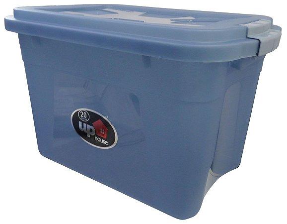 Caixa Organizadora 20 Litros Transparente/Azul UP House 0766 Uninjet