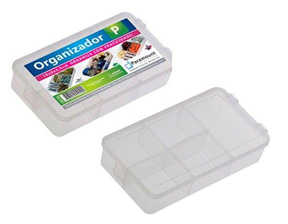 Caixa Organizador Box P C/ 5 Divisorias 16 X 9 X 3,5 Cm Paramount