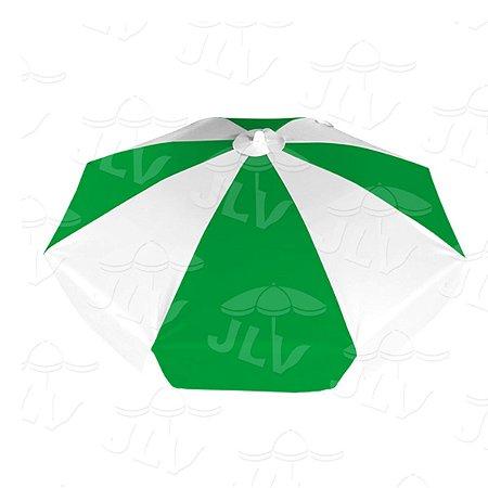 Guarda Sol 1,6m Branco/Verde JLV