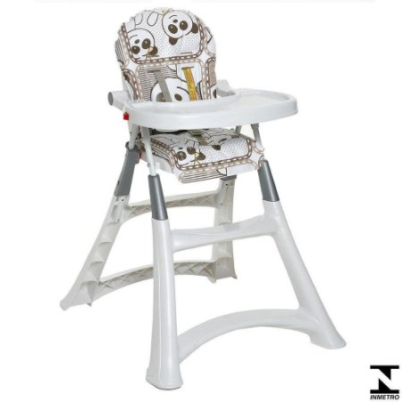 Cadeira De Alimentação Para Bebe Alta Premium Panda Galzerano