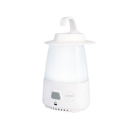 Luminária Portátil C/ Gancho e USB Recarregável 545 Lumens Mor