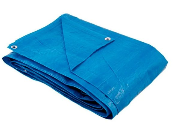 Lona Azul Reforçada  4x4 metros 100 Grs 150 micras AJAX